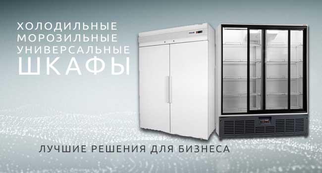 Холодильные и морозильные шкафы купить