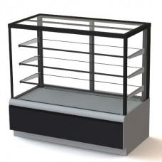 Витрина кондитерская Carboma Cube Люкс Техно ВХСв 0,9 д вентилируемая холодильная