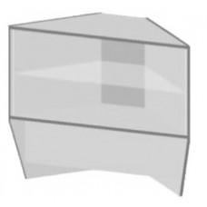 Ника Прилавок угловой остекленный внешний ЛДСП 55*55*90