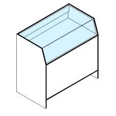 Алёна прилавок торговый остекленный ПОС 90 ЛДСП цвет белый