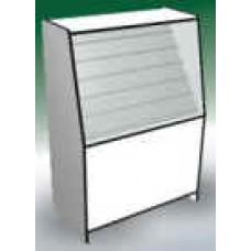 Алина прилавок-витрина для мелкоштучного товара 90*66*140 кромка