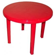 Стол пластиковый круглый Романтик красный
