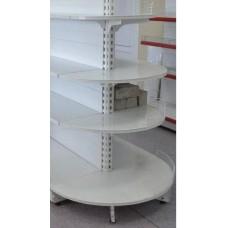 Нордика-50 стеллаж торцевой полукруглый 190 см база 50 см