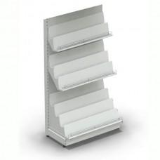 Лайт Нордика-50 стеллаж 225*100 см для книг и журналов, в связке