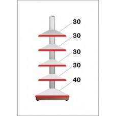 Штрих-М Стеллаж угловой внешний 50*225, в связке