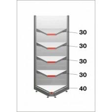 Штрих-М Стеллаж угловой внутренний 50*225, в связке