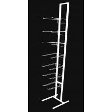 Стойка ПР 21 белая 7 блоков двойных крючков