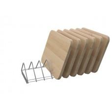 Комплект полки для досок шкафа ШЗДП-4- 950-02