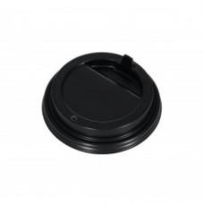 Крышка для стакана с закрытым питейником черная