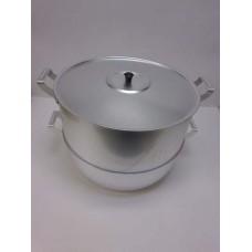 Мантоварка 15 л, d= 340 мм, h= 250 мм, 4 диска, алюминий