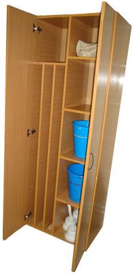 Шкаф для уборочного инвентаря шу-01 - вешала для полотенец, .
